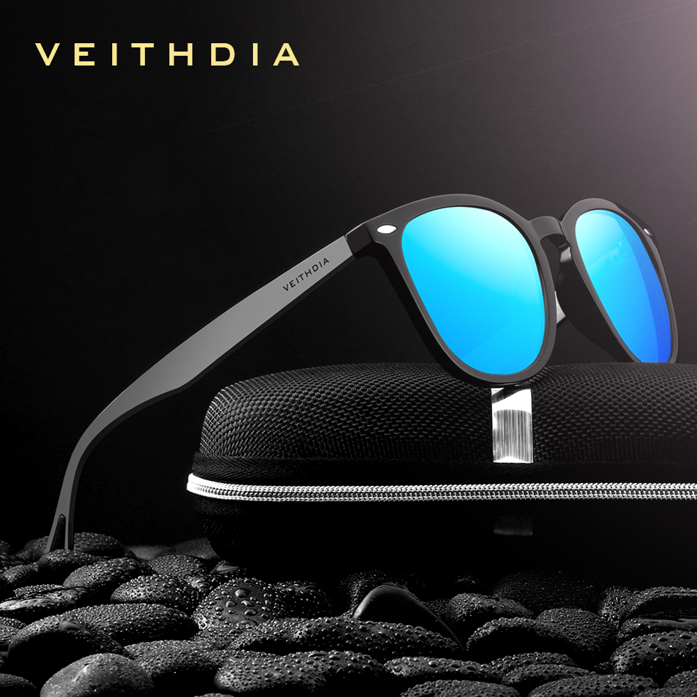 VEITHDIA 2020 Unisex Aluminum+TR90 Men's Photochromic Mirror Sun Glasses Eyewear Accessories Sunglasses For Men Women 6116