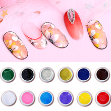 Bright Nail Painting Gel Draw Liner Pattern Paste Nail Gel Polish for Manicure Soak Off UV LED Gel Lacquer Varnish Esmalte F596 clever lady wholesale 110 colors uv led gel nail polish set gel lacquer esmalte permanente a set of gel varnishes
