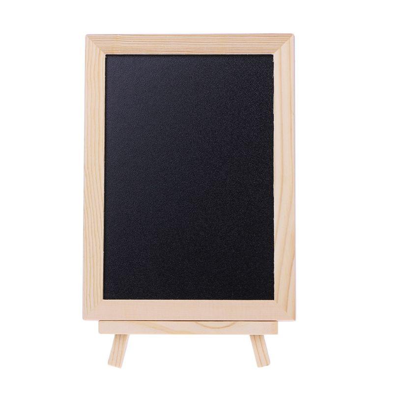 Wood Tabletop Chalkboard Double Sided Blackboard Message Board Children Kids Toy AXYF