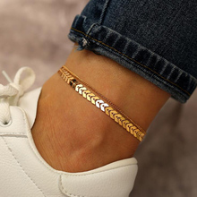 Anklets The-Leg-Accessories Beach-Sandal Gold-Color Bohemian Foot-Chain Barefoot Women