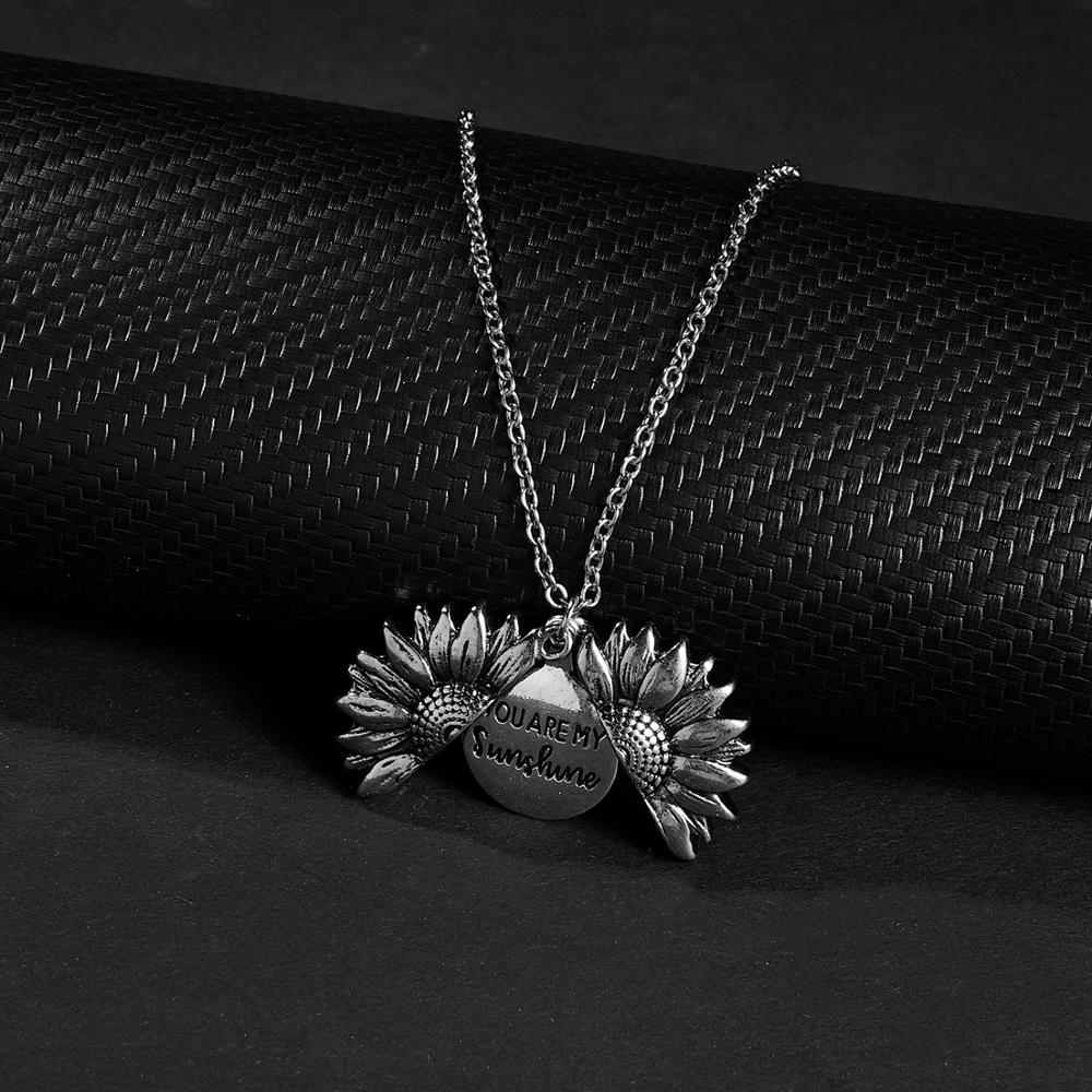 Sunflower Necklace | You Are My Sunshine Pendant 2