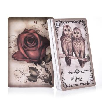 39 Sheets Under The Roses Lenormand Tarot Cards Read Fate Lenormand Oracle Cards Divination Fate Tarot Deck Board Game Gift