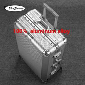 BeaSumore 100% aluminum alloy Brand Rolling Luggage Spinner 28 inch High capacity Women Trolley Men Business Suitcase Wheels