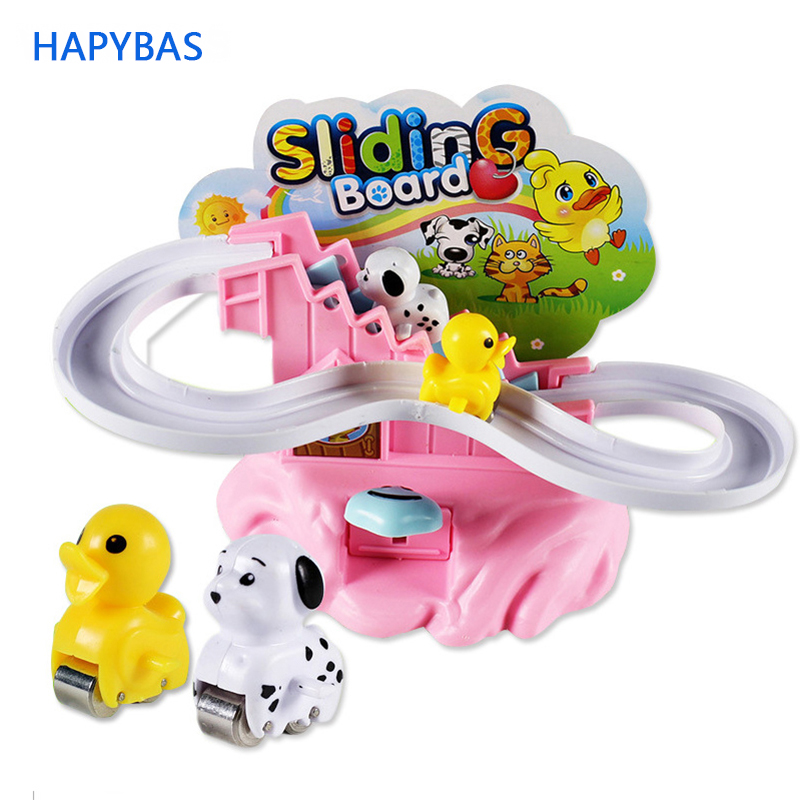 Funny Climbing Stairs Toys Novel Creative Toys For Children Mini Cute Animal Slide Rotating Slide Toys Brinquedos