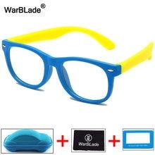Warblade óculos infantil, óculos anti luz azul, bloqueador de armação ótica, unissex, transparente uv400
