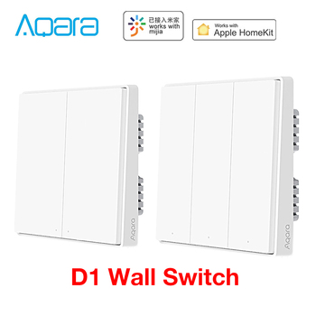 Aqara Wall Switch D1 Zigbee Smart Zero Line Fire Wire Light Remote Control Wireless Key WiFi Switches No Neutral For MI Homekit - discount item  30% OFF Smart Electronics