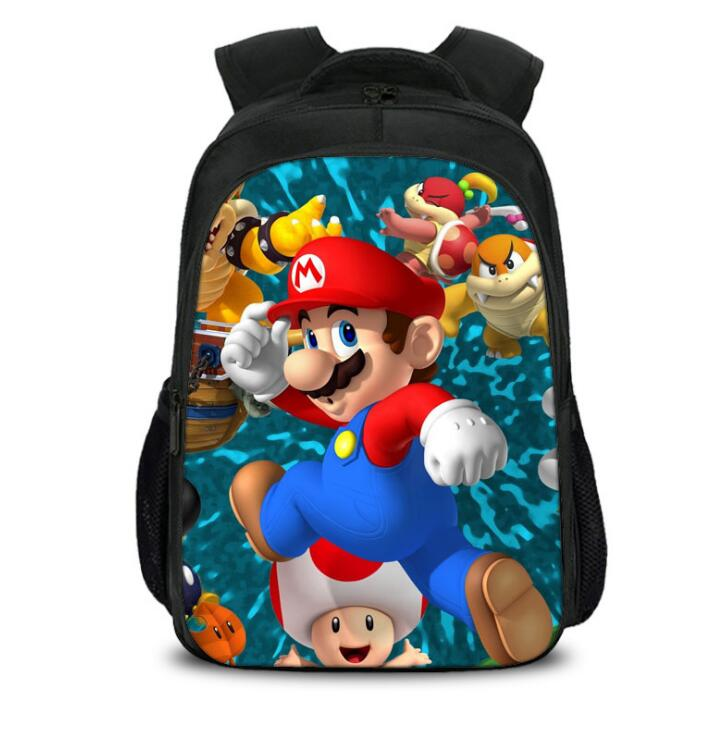 Teenager Super Mar Cartoon Backpack Boy Cartoon School Bags Hot Primary Backpack School Bags For Boys And Girl Mochila Sac A Dos