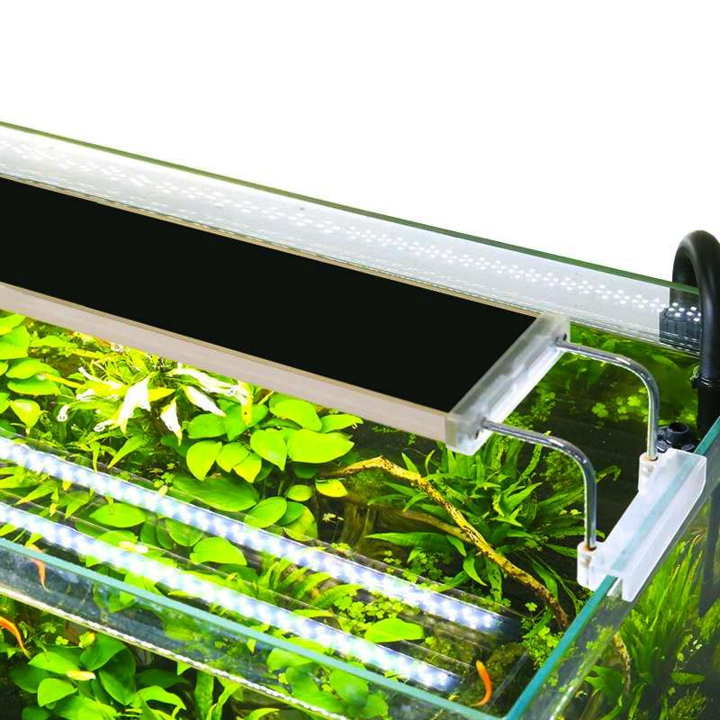 Sunsun anúncios aquário iluminação led planta aquática grama tanque de peixes led luz super brilhante lâmpada aquário luz 12-24 w crescer lampe 220v