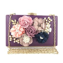 купить bags for women 2019 The new handmade flower dinner bag, the clutch dinner lady bag luxury handbags women bags designer по цене 1606.24 рублей