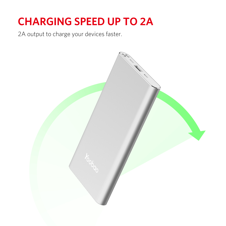 Yoobao A1 power bank 10000mAh Ultra Slim External Battery Universal Portable powerbank for iPhone Xiaomi Samsung Huawei|Power Bank| |  - title=