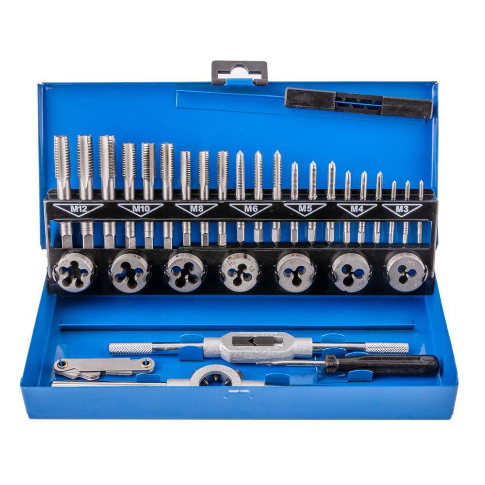 32 шт вольфрамовый сплав стальной метрический кран и штампы набор винтовых резьбы режущие инструменты конический сверлильный резец набор с металлическим чехлом