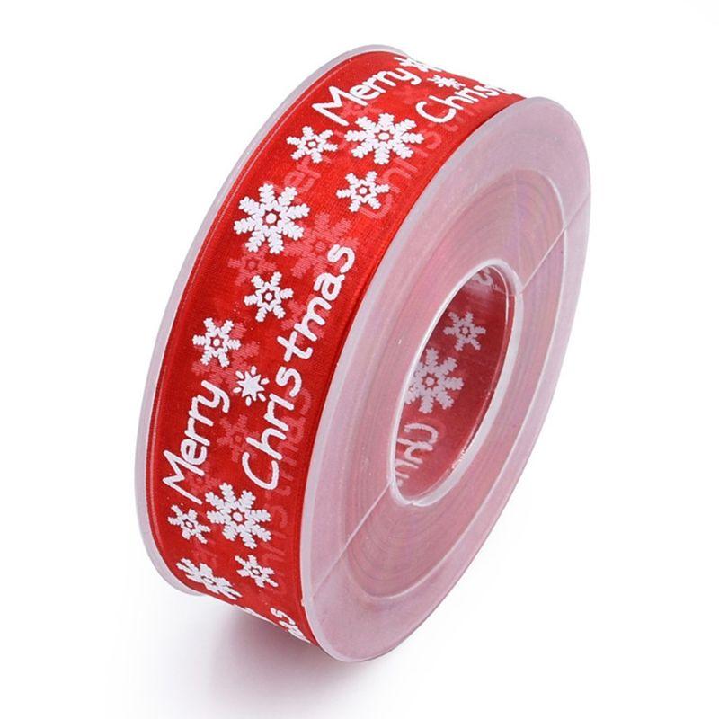 10 m/20 m снежинка шаблон Счастливого Рождества украшения марлевые ленты для поделок - Цвет: R