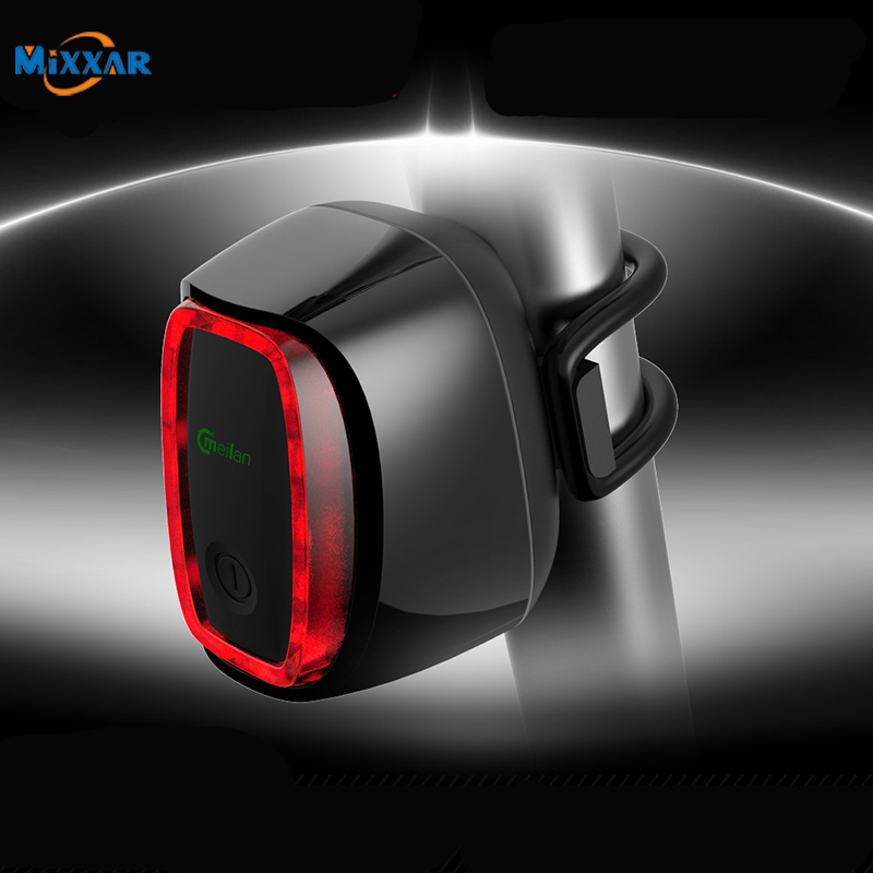 Dropshipping X6 Bicycle Rear Taillight USB Rechargeable Waterproof Bike Safety Lamp Intelligent Cycling Lamp 7 Modes