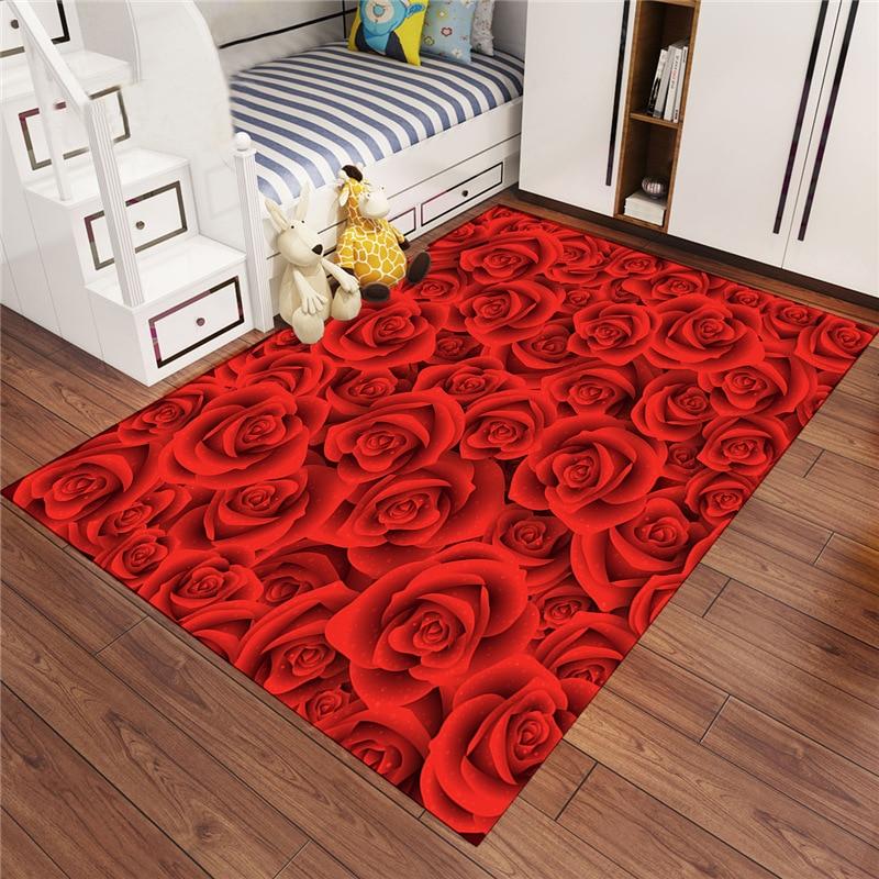 Beau tapis de sol en microfibre imprimé Floral bienvenue tapis Style Pastoral joyeux noël porte tapis tapis salon couloir tapis