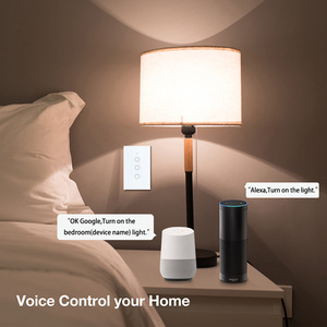 Image 5 - Wifi Smart Light Switch Wall Glass Screen Interruptor Touch Panel Voice Control Wireless work for Alexa Google Home 1/2/3/4 Gang