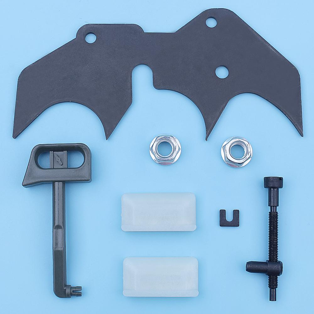Inner Felling Dawg Dog Spike Bar Nut Kit For Husqvarna 288 281 181 281XP 288XP EPA Chainsaw Adjuster Bar But Choke Rod 501918101