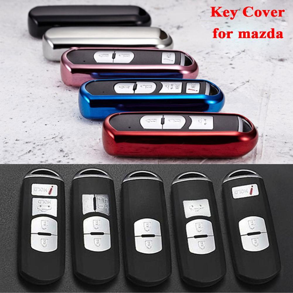 For Mazda 2 3 5 6 323 626 Cx3 Cx-4 Cx-5 Cx-7 Cx-9 Mx5 2009-2012 2013 2014 2015-2017 Tpu Remote Key Cover Case Fob Shell Styling