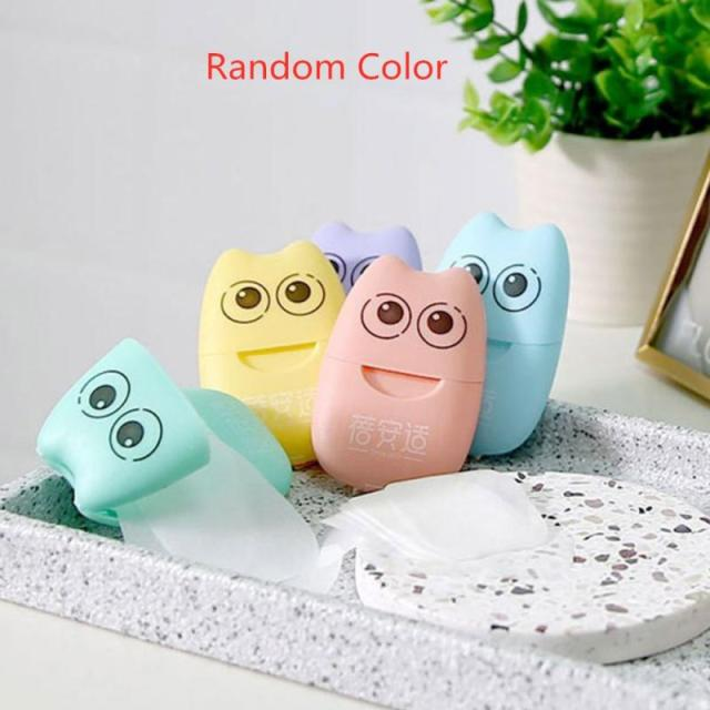 20 Pc/box Disposable Mini Travel Soap Paper Portable Boxed Foaming Paper Soap Washing Hand Bath Cleaning Scented Sheets TSLM1 5