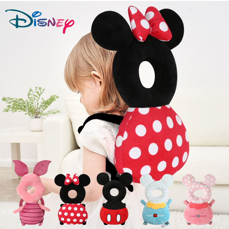 Disney Cartoon Head Neck Protection Pillow Plush Pillow Infant Toddler Anti Fall Cushion Kids Sleep Protection Newborn Baby Cute