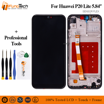 2280*1080 Pink, Blue, Black LCD With Frame For HUAWEI P20 Lite Lcd Display Screen For HUAWEI P20 Lite ANE-LX1 ANE-LX3 Nova 3e for huawei p20 lite ane lx1 ane lx3 lcd display touch screen digitizer assembly replacement for p20lite nova 3e 5 84 screen par