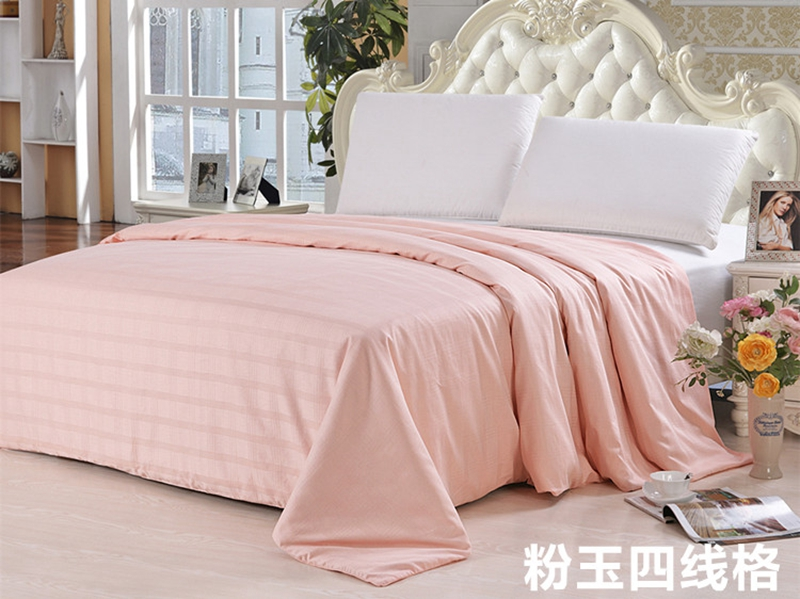 Fashion Winter Bedding Handmade Silk Comforters 100%Mulberry Silk Quilt 4 Seasons Silk Blankets Grid 100%Cotton Fabric Cover