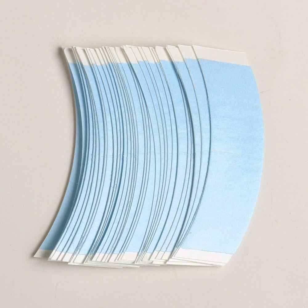 36 Pcs Blue Pre-Gesneden Lace Front Pruik Tape V Vorm Dubbelzijdig Tape Voor Toupet/Lace Pruik haar Systeem Plakband