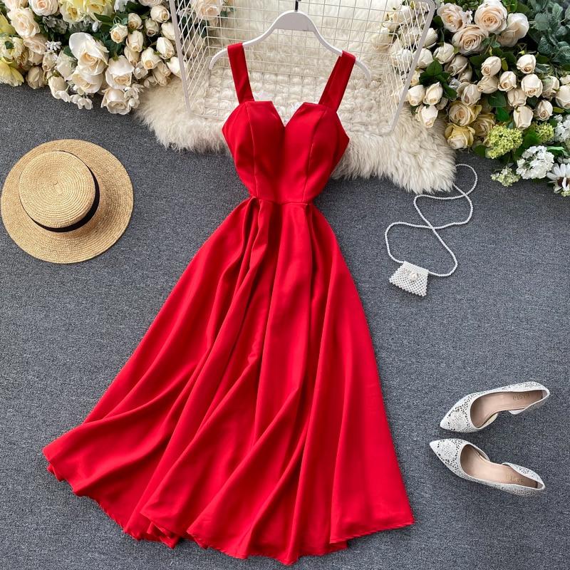 Elegant Vintage Sleeveless V-Neck Bandage Dress 4