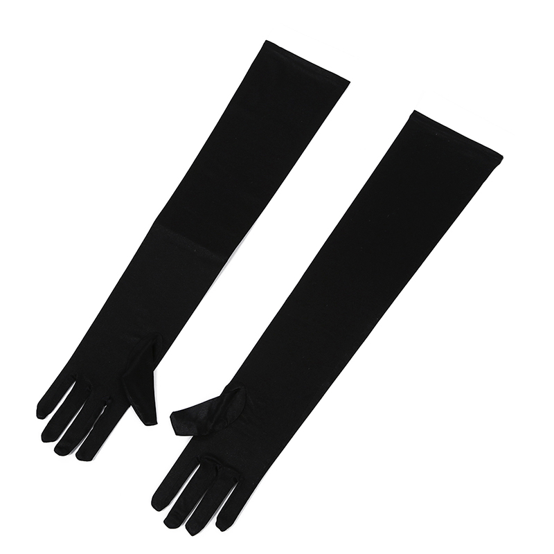 Pair Of Sexy Long Gloves Black 50cm EMO PUNK Party