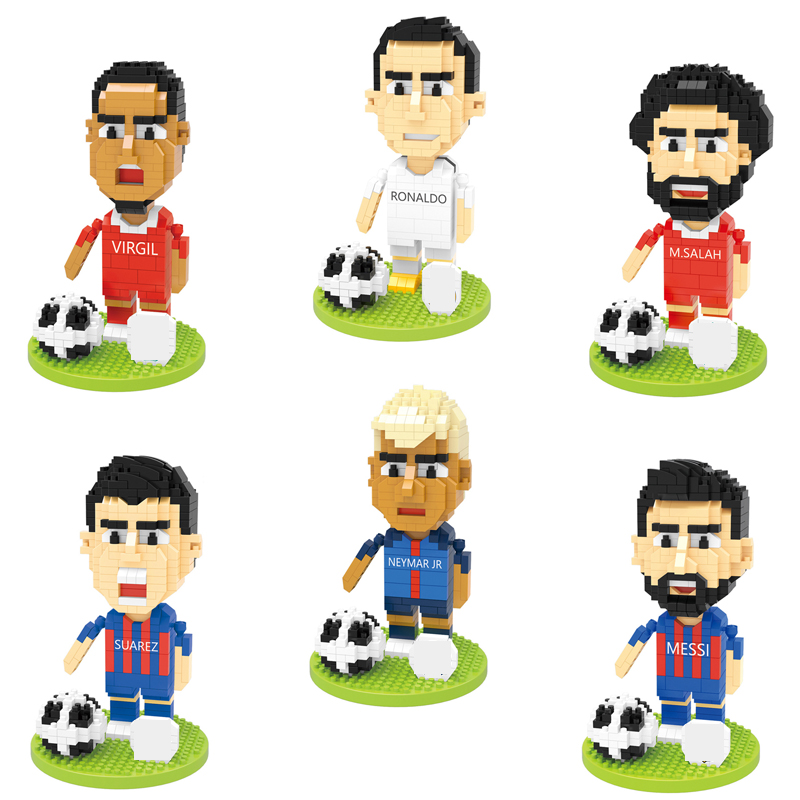 Cartoon Football Star Figure Nanobricks Leonard Neymar Jr C Ronaldo Suarez Messi M Salah Virgil Micro Diamond Block Brick Toy Stacking Blocks Aliexpress