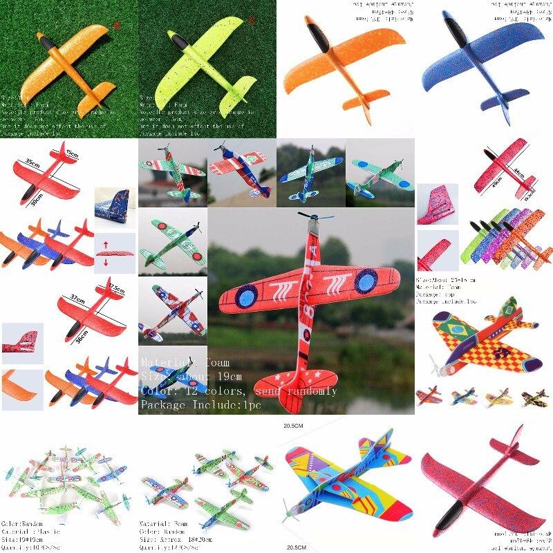 16 видов стилей EVA самолет из пенопласта ручной запуск метательный планер инерционный пенный самолет модель самолета игрушки для улицы