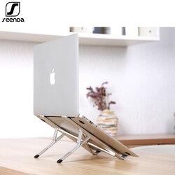 Seenda Verstelbare Laptop Stand 7 Niveau Passen Vouwen Aluminium Desktop Geventileerde Koeling Laptop Houder Voor Notebook Mackbook