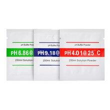 Solução de 15Pcs Medidor de PH Em Pó 6.86 4.01 9.18 Ponto de Calibração Medida Solução de Calibração Ph Pó para PH Medidor de Teste