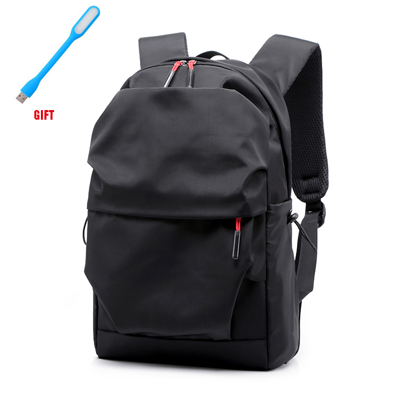 New Men Backpack For 15.0 Inches Laptop 2019 Back Pack Large Capacity Stundet Backpacks Pleated Casual Style Bag Water Repellent