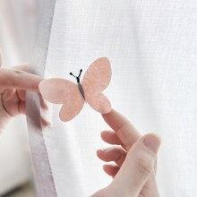 Drie-Dimensionale Vlinder Geborduurde Gordijn Voor Kinderen Dochter Kinderkamer Cartoon Balkon Tende Gordijnen Wp434b