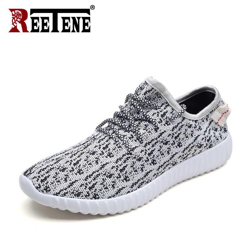 REETENE yeni moda yaz erkek ayakkabısı nefes erkekler Sneakers klasik koşu rahat ayakkabılar erkekler hafif spor erkek ayakkabıları