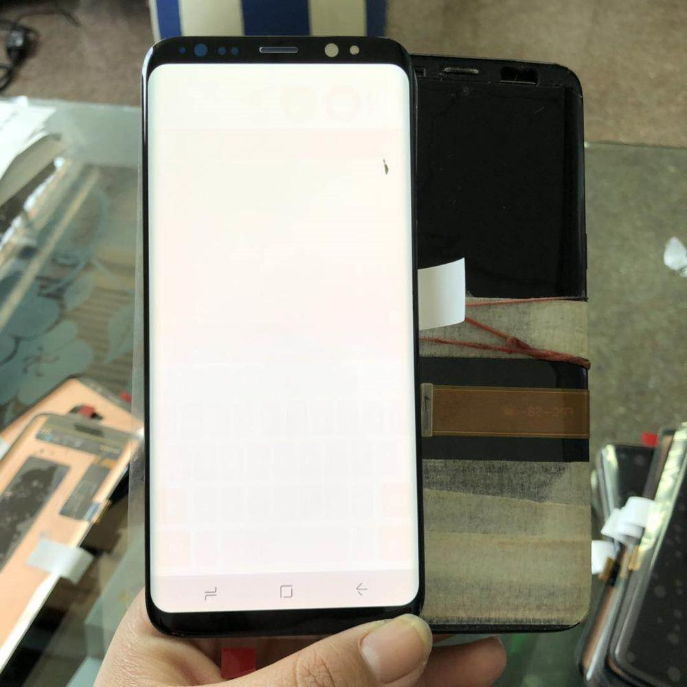 Super Amoled LCD For SAMSUNG <font><b>Galaxy</b></font> <font><b>S8</b></font> G950 G950F <font><b>Display</b></font> With Touch Screen Digitizer Assembly Small dead point+Burn-Shadow image