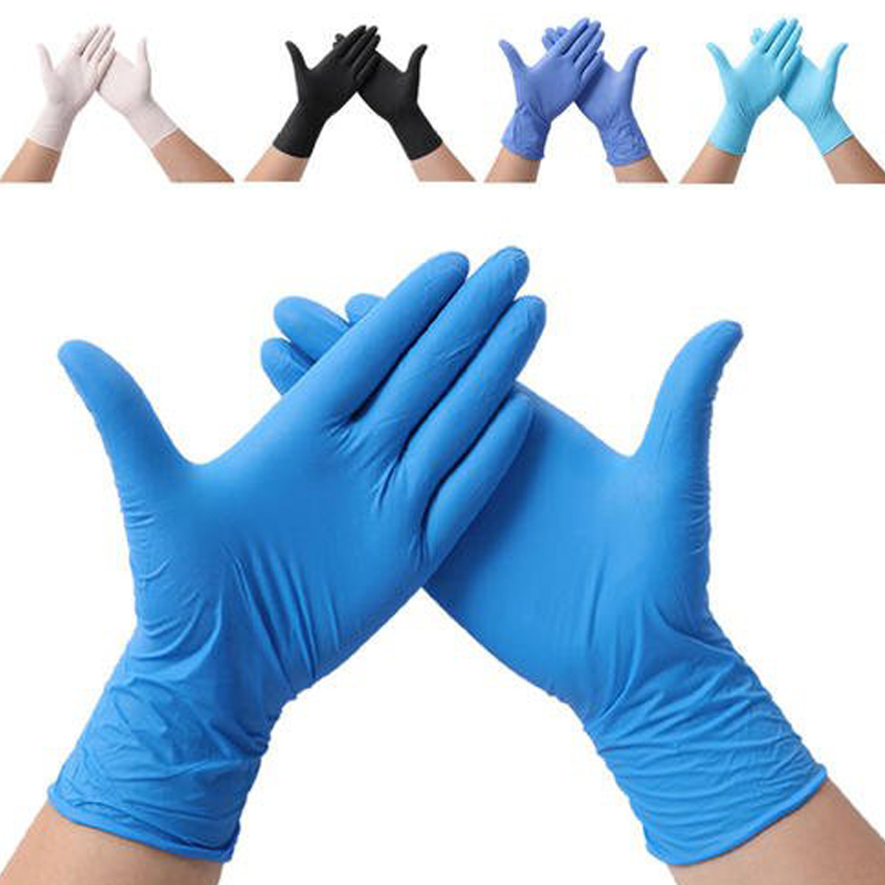 100pcs/20pcs Disposable Gloves Nitrile Rubber Gloves Latex For Home Food Laboratory Cleaning Rubber  Multifunctional Home Tools