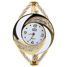 Rhinestone Unique Bracelet Watches Women Style Fashion Casual Quartz Wr