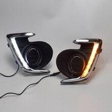 LED DRL Daylight Daytime Running Lights Front Fog Light Lamp for Mitsubishi Attrage Mirage G4 2012-2015