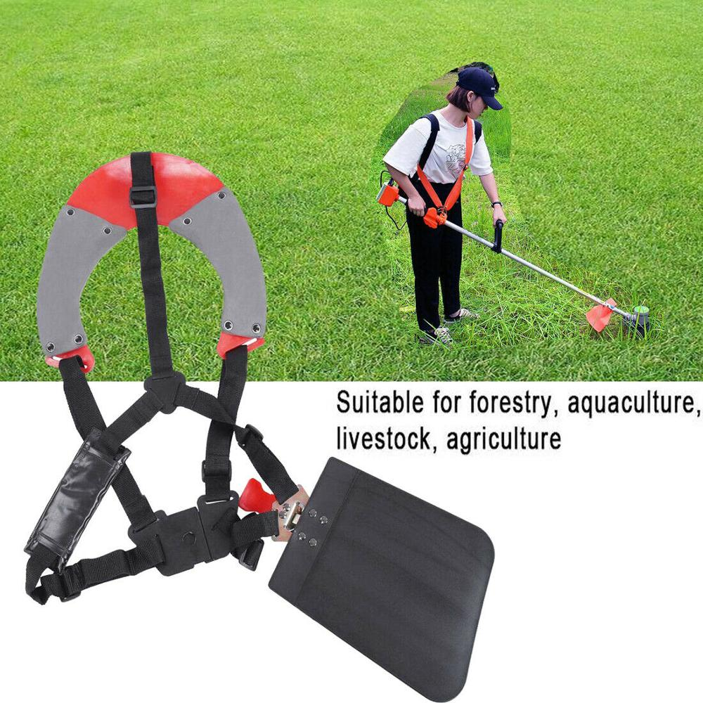 Standard Grass Trimmer Brushcutter Single Shoulder Harness Strap with Carry Hook