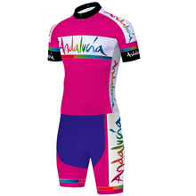 Skinsuit Cycling Short-Sleeve ANDALUCIA Bicycle-Jumpsuit Equipacion Triathlon Ciclismo