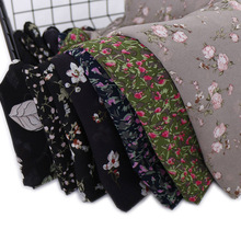 Модная шифоновая шаль-хиджаб в ретро-стиле с цветочным рисунком, мягкие шарфы-повязки для женщин, мусульманский снуд