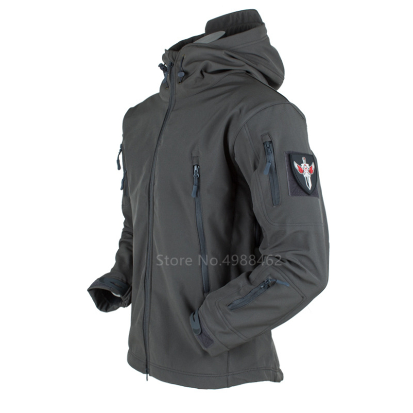 New Military Us Army Uniform Outdoor Jacket WW2 German Tactical Top for Man Wind Water Proof Breathable Hooded Zipper Fleece Top