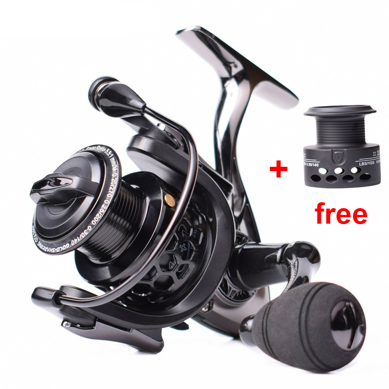 High Quality Full Metal Fishing Reel 14+1BB Spinning Reel CNC Rocker Arm Fishing Reels Widen Spool No Gap Bearing
