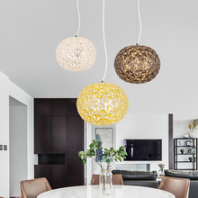 Nordic Modern Acrylic Crystal Ball Gold Pendant Light Restaurant Hanging Lights Living Room Pendant Lamp Dinning Room Lights E27 nordic designer living room led hanging lights modern creative american chandelier glass ball restaurant iron pendant lamp