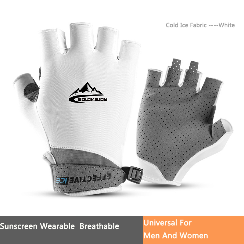 Bike Gloves Golf Outdoor Exercise Sun Protection Summer Fishing Perspiration Breathable Cold Thin Mittens Half Finger Glove