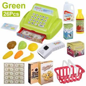 Toys Cash-Register Kids Supermarket Electronic Children Simulation-Counter Pretend-Play-Set