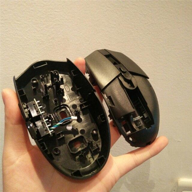 Capa de escudo do mouse com placa de botão para logitech gaming mouse g304 g305 peças reposição reparo