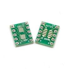 10 pces sot23 msop10 para dip placa de transferência pino passo adaptador