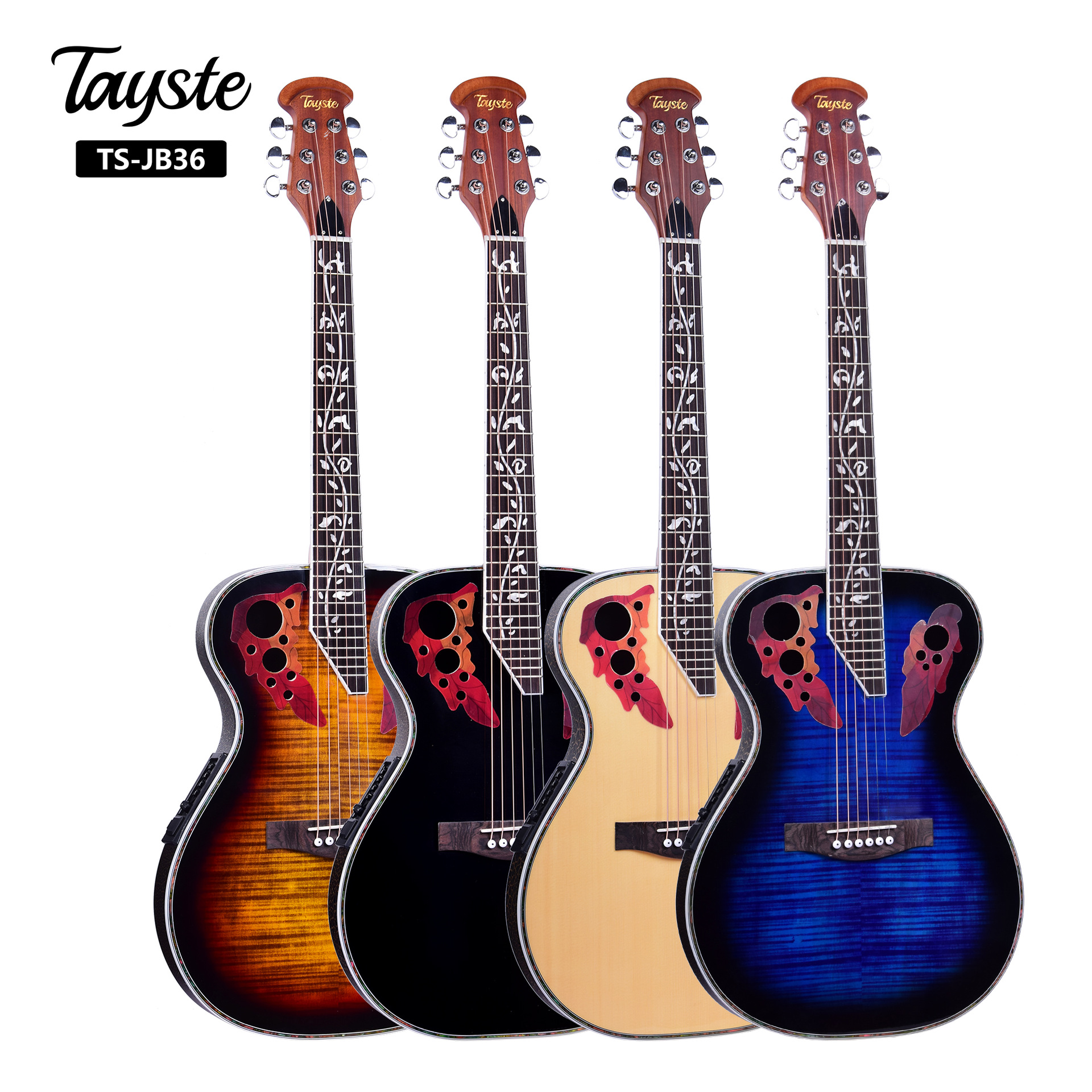 Hot <font><b>36</b></font> Inch 6 String Acoustic <font><b>Guitar</b></font> Concert Electric <font><b>Guitar</b></font> Rose Wood Fingerboard Crack <font><b>Guitar</b></font> Band Package image
